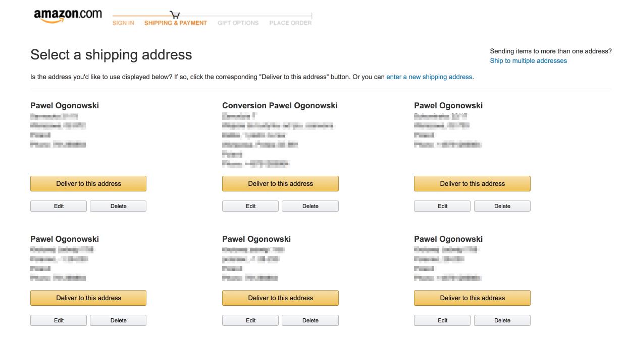 Auto-save address options