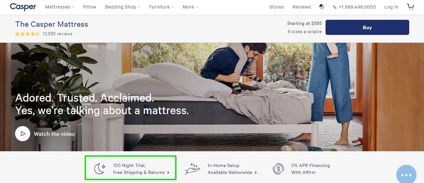 Casper revolutionized the highly-competitive mattress space by offering a 100-day free ?sleep? trial