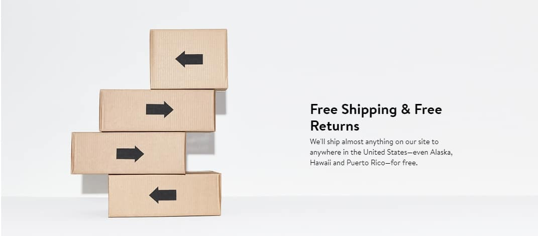 Part of Nordstrom?s recipe for success is the offer of free shipping and returns for all products, with no minimum.