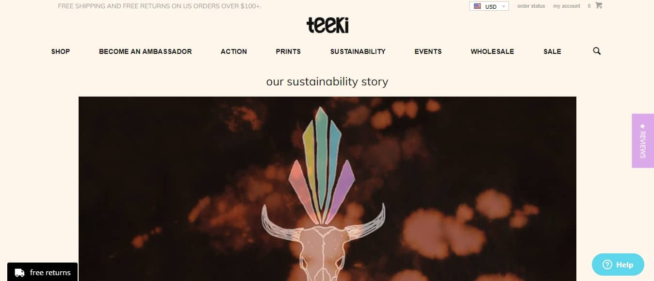 Teeki meets the demand for ethically-made yoga-wear with pants made largely from recycled bottles and with a minimum of water consumption.